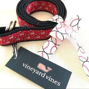 Vineyard Vines American flag ladies belt large NWT
